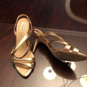 Stunning LK Bennett L.K. Gold strappy pumps heels